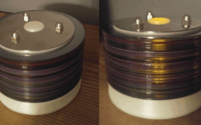 Touch Activated Recycled CD Glow-in-the-Dark Lamp Project