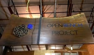 Open Bench Project Sign Makerspace